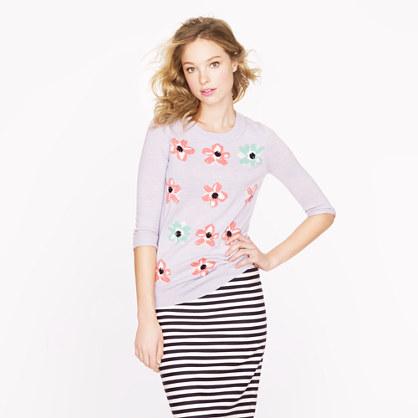 Merino Tippi sweater in graphic floral