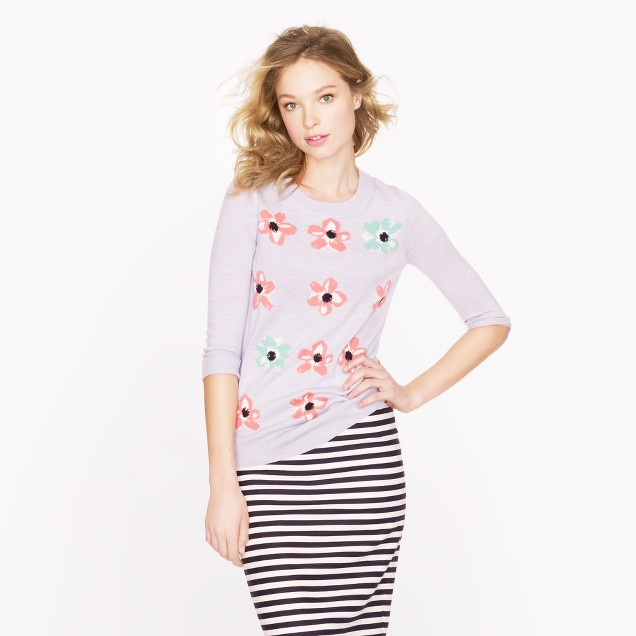 Merino Tippi sweater in graphic floral
