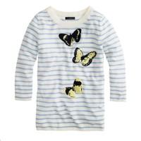 Merino Tippi sweater in stripe monarch