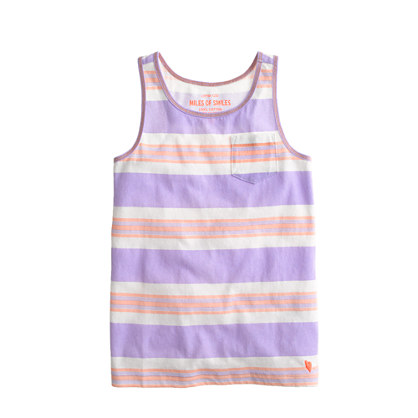 Girls' racerback tank in stripe