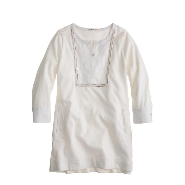 Girls' bib-front pocket tunic
