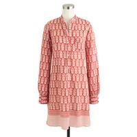Nili Lotan® for J.Crew beach dress in wood-block print