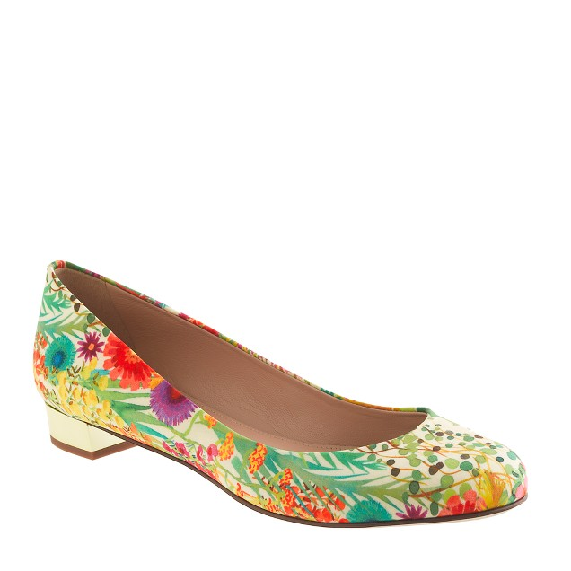 Janey Liberty print flats