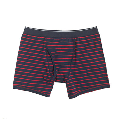 Chili powder striped knit boxer briefs
