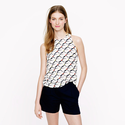 Water-ski girls silk tank