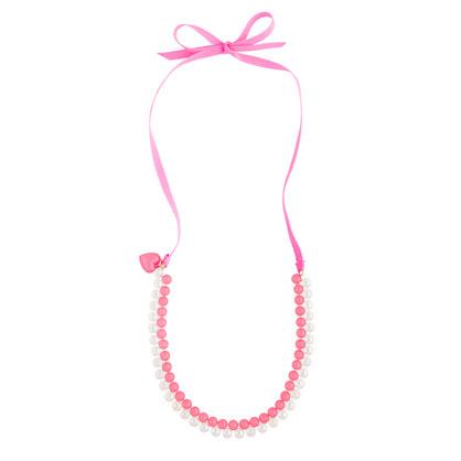 Girls' seaglass & soap bubbles necklace