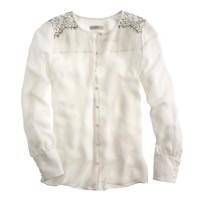 Collection shoulder-lace blouse