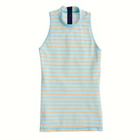 Double-stripe sleeveless rash guard