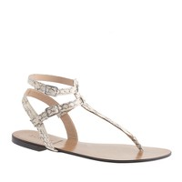 Collection Tabbie snakeskin T-strap sandals