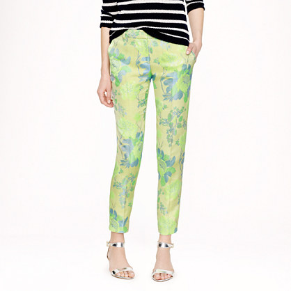 Collection café capri in neon floral jacquard
