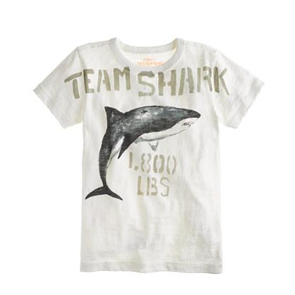 Boys' team shark tee