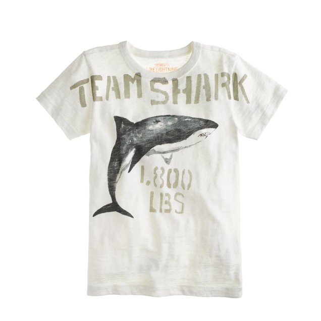 Boys' team shark tee