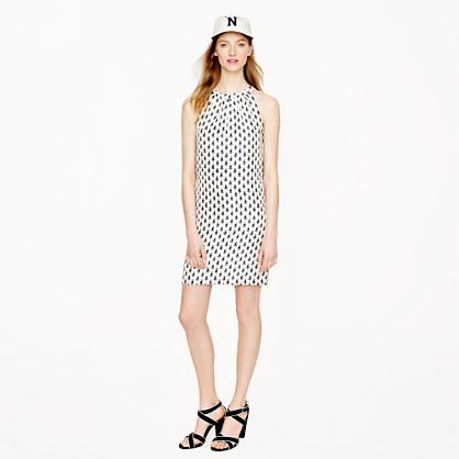 Swoop dress in thistle print