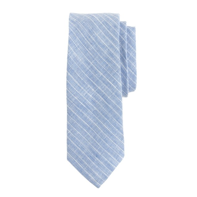Irish linen pinstripe tie