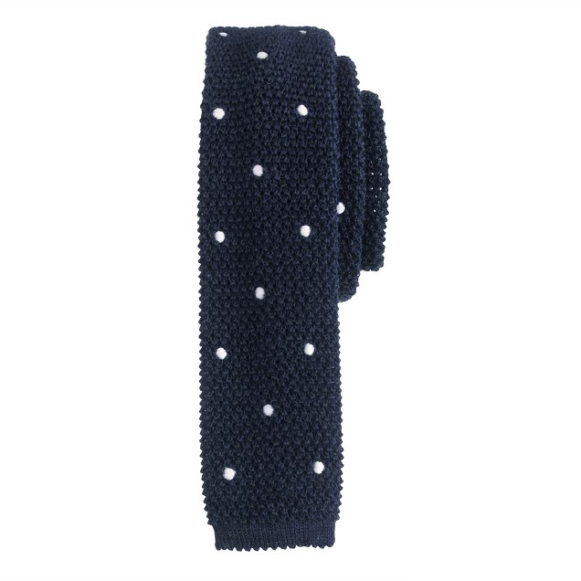 Knit tie in large dot