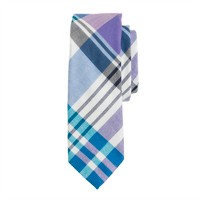 Indian cotton tie in Berkshire green plaid