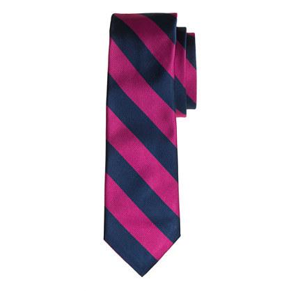 Silk repp stripe tie