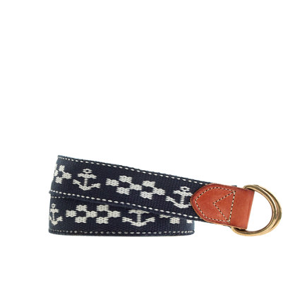 Boys' anchor D-ring belt