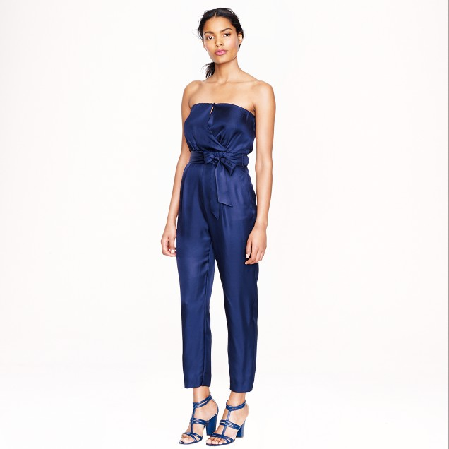 Collection strapless jumpsuit