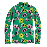 Punk floral rash guard