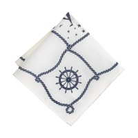 Nautical-print pocket square