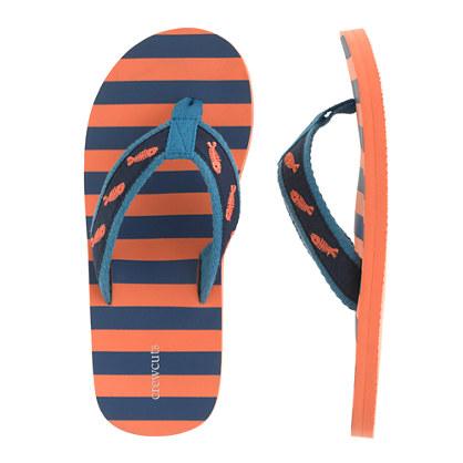 Boys' neon flip-flops