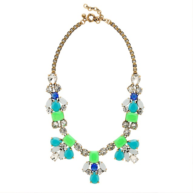 Bright stone necklace