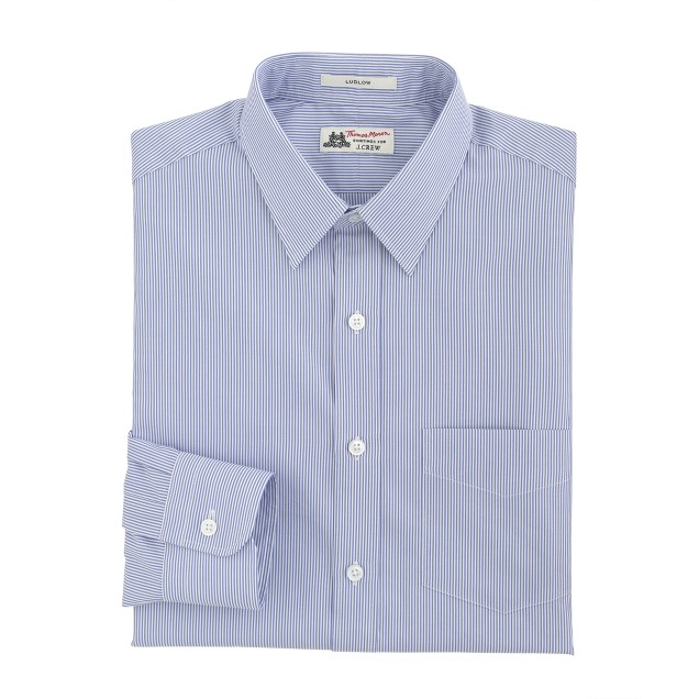 Thomas Mason® for J.Crew Ludlow shirt in baltic stripe