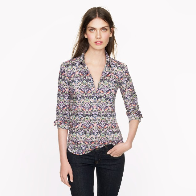 Liberty popover in strawberry thief floral