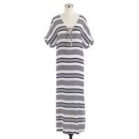 Silk stripe maxidress
