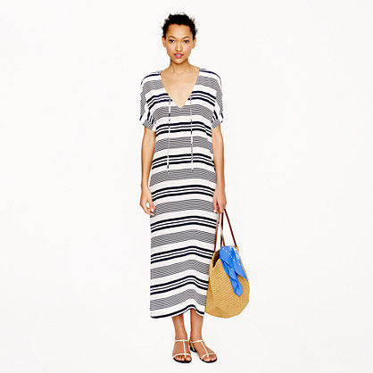 Silk stripe maxidress