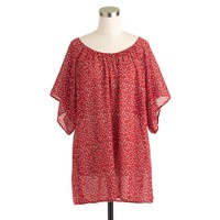 Caftan tunic in rosebud