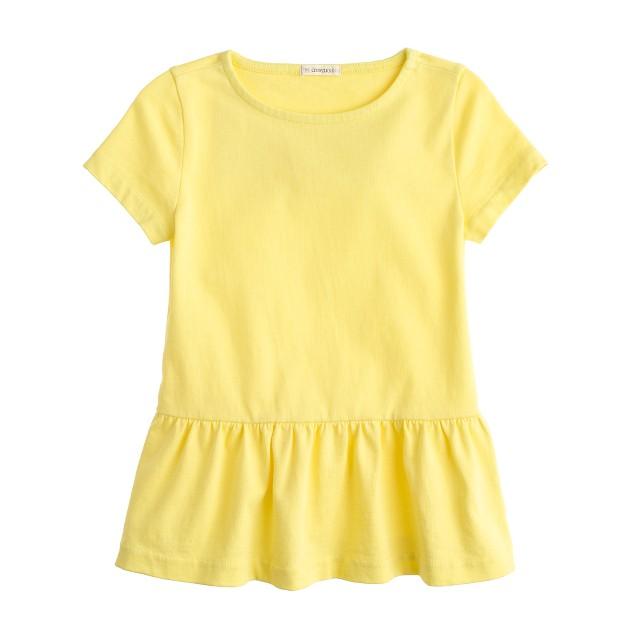 Girls' short-sleeve peplum tee