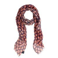 Drake's® printed linen-silk mix scarf