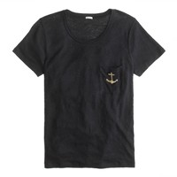 Linen anchor pocket tee