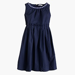 Girls' Loulie dress in poplin