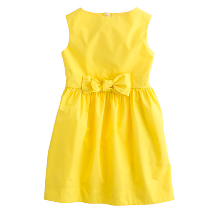 Girls' poplin bow dress