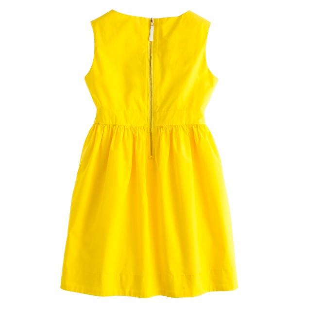Girls' poplin bow dress