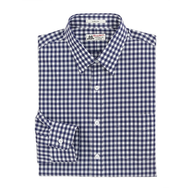 Thomas Mason® for J.Crew Ludlow shirt in vintage navy gingham