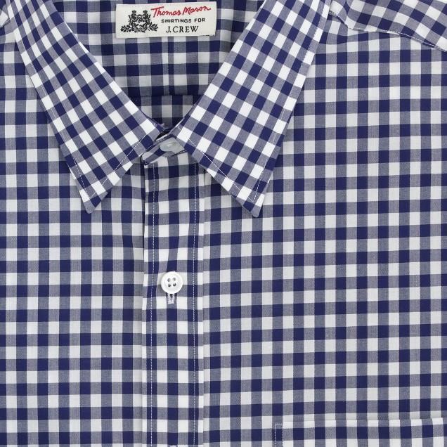 Thomas Mason® for J.Crew Ludlow shirt in vintage navy gingham