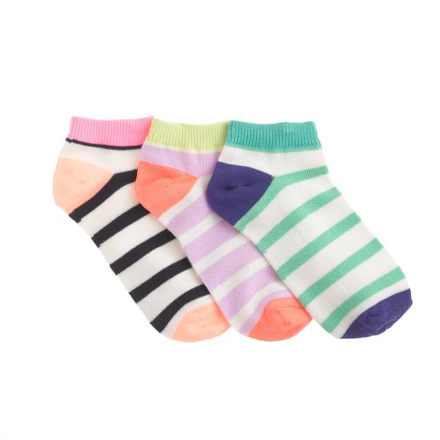 Girls' ankle socks three-pack