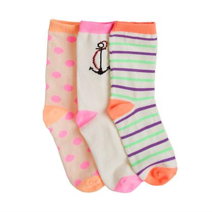 Girls' trouser socks