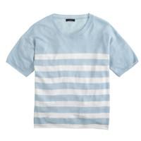 Short-sleeve Linen sweater in stripe