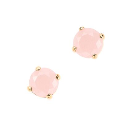 Translucent stone earrings