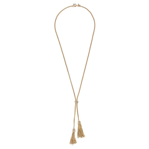Double-tassel necklace