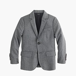 Boys' Ludlow suit jacket in Italian wool flannel