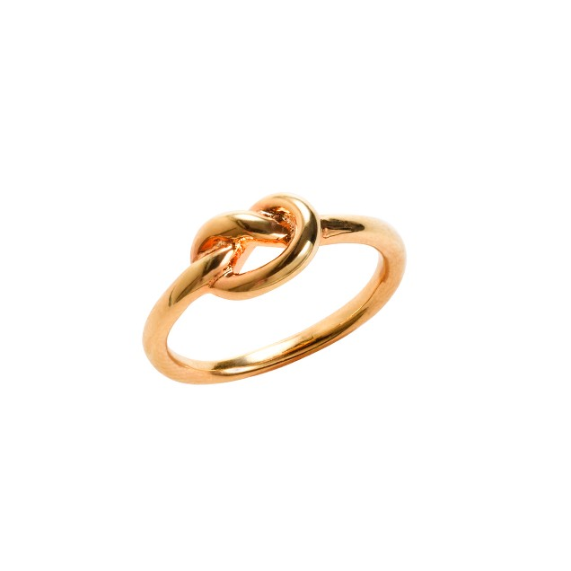 Golden knot ring