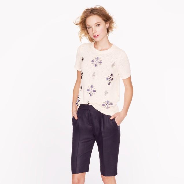 Linen bermuda short