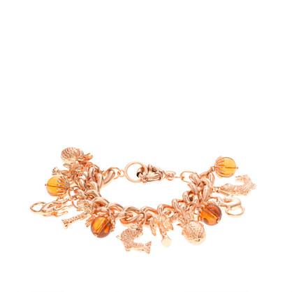 Golden charm bracelet