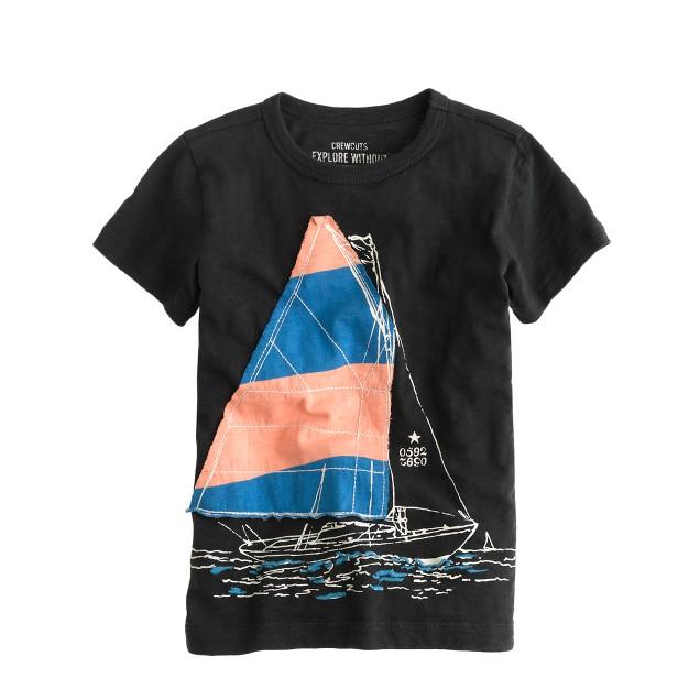 Boys' sailboat tee